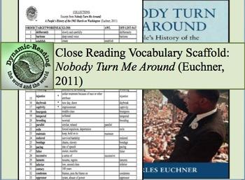 "Academic Vocabulary Scaffolds for ""Nobody Turn Me Around"" (Euchner, 2011)"