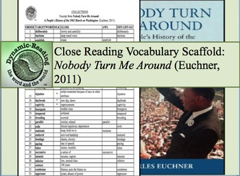 """Academic Vocabulary Scaffolds for """"Nobody Turn Me Around"""""""