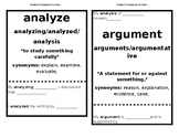 Academic Vocabulary Sentence Frames