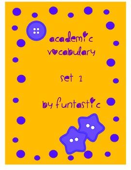 Grade 3 Academic Vocabulary Set 1