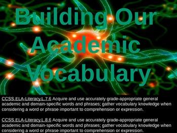 Academic Vocabulary Set 1 (NEW)