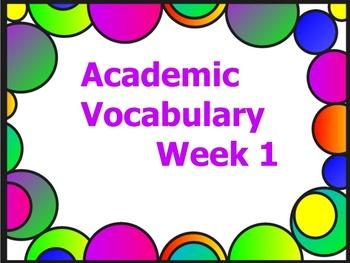 Grade 3 Academic Vocabulary Set 1 Promethean Flipchart