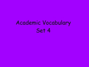 Grade 3 Academic Vocabulary Set 4 Promethean Flipchart