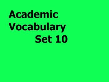 Grade 3 Academic Vocabulary Set 10 Promethean Flipchart