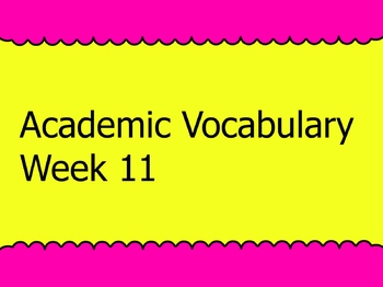 Grade 3 Academic Vocabulary Set 11 Promethean Flipchart