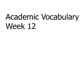 Grade 3 Academic Vocabulary Set 12 Promethean Flipchart