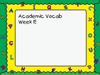 Grade 3 Academic Vocabulary Set 15 Promethean Flipchart