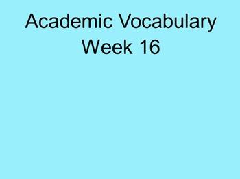 Grade 3 Academic Vocabulary Set 16 Promethean Flipchart