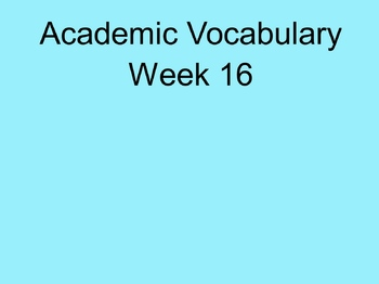 Grade 3 Academic Vocabulary Set 16 Promethean Flipchart