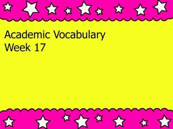 Grade 3 Academic Vocabulary Set 17 Promethean Flipchart