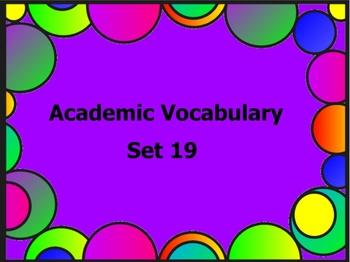 Grade 3 Academic Vocabulary Set 19 Promethean Flipchart