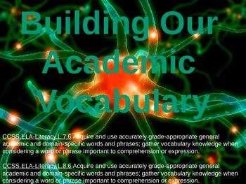 Academic Vocabulary Set 2 (NEW)