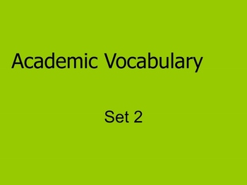 Grade 3 Academic Vocabulary Set 2 Promethean Flipchart