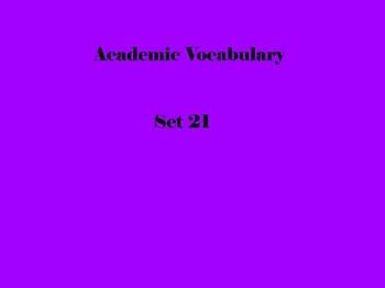 Grade 3 Academic Vocabulary Set 21 Promethean Flipchart
