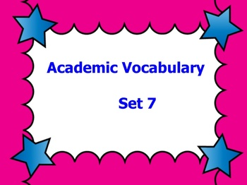 Grade 3 Academic Vocabulary Set 7 Promethean Flipchart