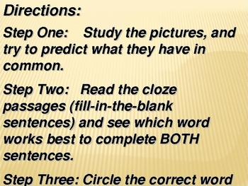 Academic Vocabulary- Set Four