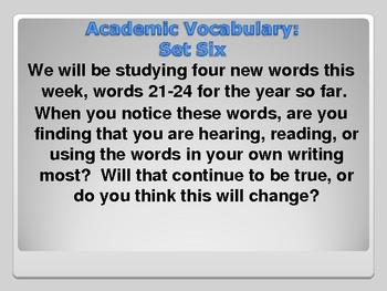 Academic Vocabulary- Set Six