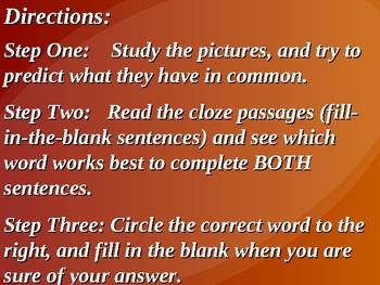 Academic Vocabulary- Set Three