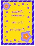 Grade 3 Academic Vocabulary Sets 1-21