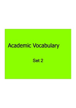Grade 3 Academic Vocabulary Sets 1-21 Projectables in PDF