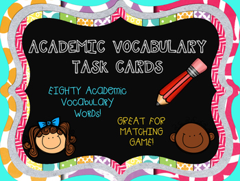 Academic Vocabulary Task Cards
