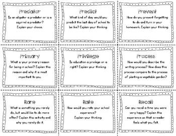 Academic Vocabulary Task Cards