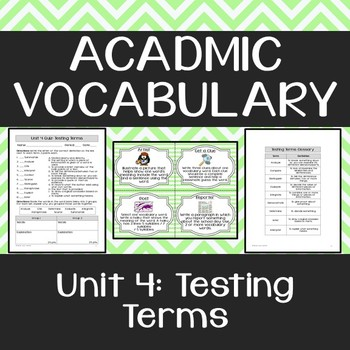 Academic Vocabulary: Testing Terms