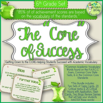 Academic Vocabulary-The Core of 6th Grade Success-Task Car