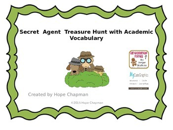 Academic Vocabulary Treasure Hunt (editable)