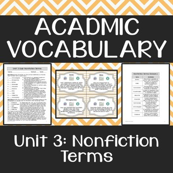 Academic Vocabulary: Nonfiction Terms