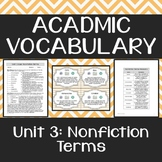 Academic Vocabulary: Nonfiction Terms