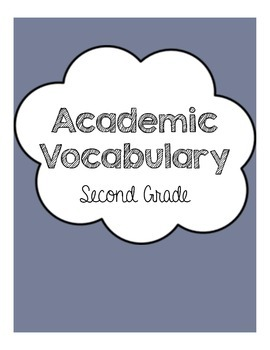 Academic Vocabulary Unit Grade 2
