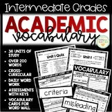 Academic Vocabulary Units, Quizzes, Daily Word Work - 4th, 5th, 6th Grades