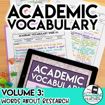 Academic Vocabulary Volume 3: Words about Research