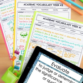 Academic Vocabulary Volume 8: High-Frequency CCSS Words #3