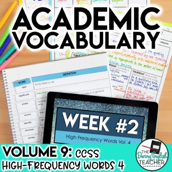 Academic Vocabulary Volume 9: High-Frequency CCSS Words #4