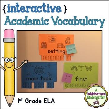 Academic Vocabulary Wall (First Grade ELA)
