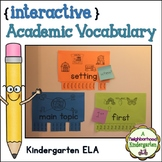 Academic Vocabulary Wall (Kindergarten ELA)