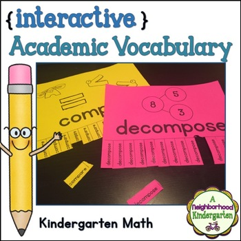 Academic Vocabulary Wall (Kindergarten Math)
