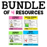 Academic Vocabulary Word Wall Bundle