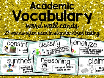 Academic Vocabulary Word Wall Cards
