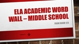 Academic Vocabulary Word Wall: ELA Middle School
