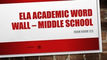 Academic Vocabulary Word Wall: ELA Middle School