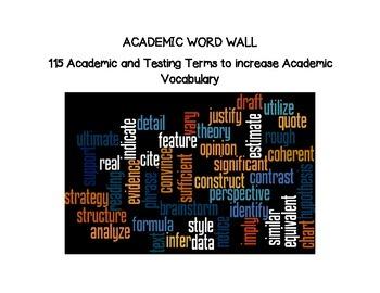 Academic Vocabulary Word Wall Large