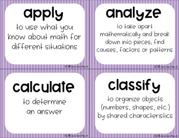 Academic Vocabulary Word Wall: Math