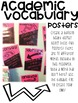 Academic Vocabulary: Word Wall, Posters, Interactive Notebook Printable EDITABLE