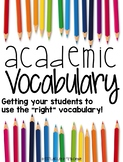 Academic Vocabulary: Word Wall, Posters, Interactive Noteb