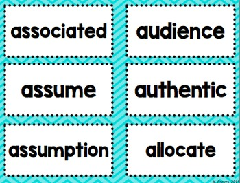 Academic Vocabulary Word Wall