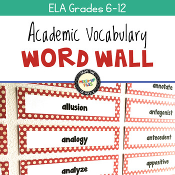 Academic Vocabulary Word Wall for Common Core Essentials