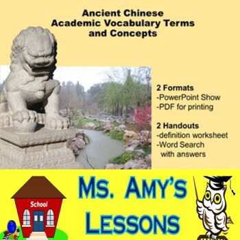 Academic Vocabulary and Concepts for Ancient China Packet